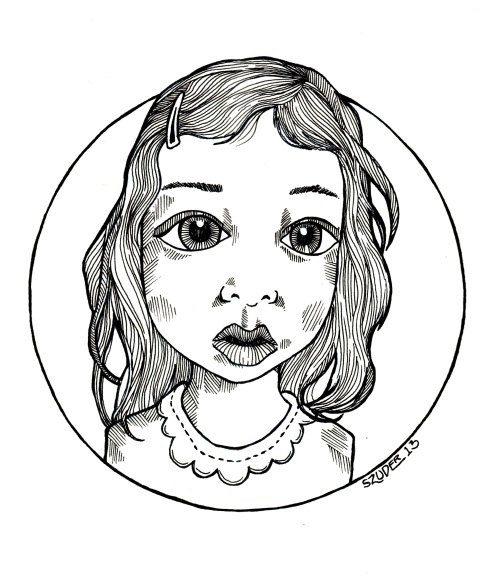 a drawing of my friends awesome little girl.